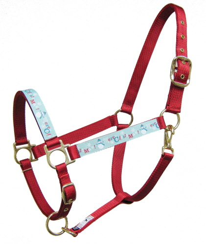 Christmas Horse Tack.Ronmar Merry Christmas Trimmed Halter