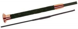 03608 Fleck Economy Plain Fiberglass dressage whip with brass top